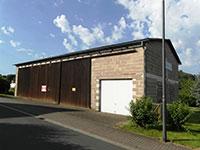 Halle Homberg (Ohm) | Massiv erbaute landwirtschaftliche Maschinenhalle (Lagerhalle) in Homberg/Ohm