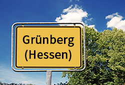 Ortsschild Grünberg (©Cevahir - stock.adobe.com)