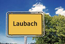 Ortsschild Laubach (©Cevahir - stock.adobe.com)