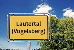 Ortsschild Lautertal (©Cevahir - stock.adobe.com)