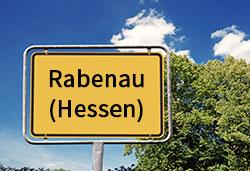 Ortsschild Rabenau (Hessen) (©Cevahir - stock.adobe.com)